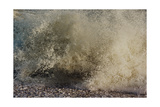 Wave Breaking On Shore, With Yellow-grey Surf Giclee Print by Fay Godwin