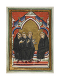 Monks Urge St. Cuthbert To Accept the Bishopric Of Lindisfarne Giclee Print by  Bede