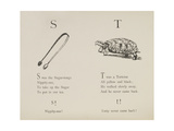 Sugar-tongues and Tortoise From Nonsense Alphabets Drawn and Written by Edward Lear. Giclee Print by Edward Lear