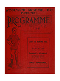 Football Programme Reproduction procédé giclée