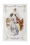They Solaced Their Wretchedness by Duets After Supper'. Illustration To 'Pride and Prejudice' Giclee Print by Charles Edmund Brock