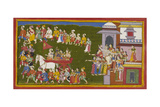 The Exiles Leave Ayodhya Giclee Print