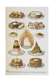 Assorted Cakes and Desserts Giclee Print by Isabella Beeton