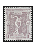 A Discus Thrower. Greece 1896 Olympic Games 5 Lepta Unused - Philatelic Collections, Giclee Print