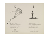 Kite and Light (Candle) From Nonsense Alphabets Drawn and Written by Edward Lear. Giclee Print by Edward Lear