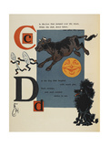 Alphabet Page: C and D. the Cow That Jumped Over the Moon. the Dog That Laughed Giclee Print by William Denslow