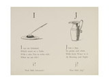Inkstand and Jug From Nonsense Alphabets Drawn and Written by Edward Lear. Giclee Print by Edward Lear