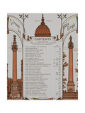 Contents Page For 'London Town'. Illustration From London Town' Giclee Print by Thomas Crane