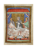 Miniature Of Cuthbert at a Dining Table Giclee Print by  Bede