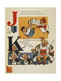 Alphabet Page: J and K. Jack and Jill. King Cole Giclee Print by William Denslow