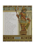 Magog, One Of the Wooden Statues Of the Guildhall. Illustration From London Town' Giclee Print by Thomas Crane