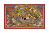 Battle Scene at Lanka Giclee Print by Sahib Din