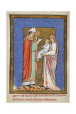 Miniature Of Cuthbert Healing a Child Ill With the Plague Giclee Print by  Bede