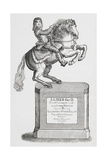 Engraving Of a Statue Of James II On Horseback Giclee Print by Thomas Bewick