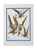 """The Monkeys Caught Dorothy in Theirs Arms and Flew Away With Her"" Giclee Print by William Denslow"