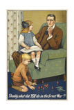 Daddy, What Did YOU Do in the Great War ' a Patriotic Poster Depicting a Father and Is Family Giclee Print by Savile Lumley