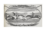 Engraving Of a Horse Race Giclee Print by Thomas Bewick