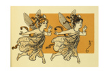 Two Fairies Giclee Print by William Wallace Denslow