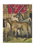 Letters Y and Z. Y For Yak. Z For Zebra Giclee Print