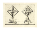 Illustration Of Sculpture. Geometric Designs Illustrating Euclidian Principles Of Geometry. Giclée-tryk af Wenzel Jamnitzer