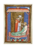 Miniature Of Cuthbert Healing an Ill Man Giclee Print by  Bede