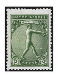 An Athlete Jumping. Greece 1906 Olympic Games 5 Lepta, Unused Giclee Print
