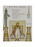 The Milk Woman. a Mil Seller From Chalk Farm Dairy. Illustration From London Town' Giclee Print by Thomas Crane