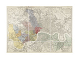 Map Of London Giclee Print by Edward Stanford
