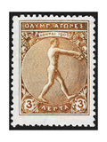 An Athlete Jumping. Greece 1906 Olympic Games 3 Lepta, Unused Giclee Print