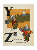 Alphabet Page: Y and Z. Young Scholar. Zany the Clown Giclee Print by William Denslow