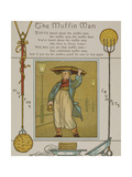 The Muffin Man.A Seller Of Muffins and Crumpets. Illustration From London Town' Giclee Print by Thomas Crane