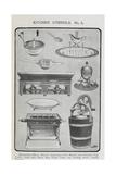 Kitchen Utensils Giclee Print by Isabella Beeton