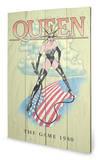 Queen - The Game 1980 Wood Sign Panneau en bois