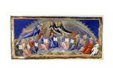 Dante and Beatrice in the Sphere Of the Sun Being Greeted by Aquinas and Albertus Magnu Giclee Print by Dante Alighieri