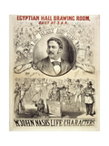 John Nash's Life Characters Presented at the Egyptian Hall in 1877. Giclee Print by Henry Evanion