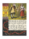 A Man and His Wife. a Nursery Rhyme Giclee Print