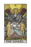 Tarot Card With a Nude Man and Woman Giclee Print by Arthur Edward Waite