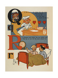 Alphabet Page: Q and R. the Queen Who Baked the Nice Tarts. Richard and Robin Giclee Print by William Denslow