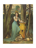Young Woman in a Green Dress Giclee Print by  Boyle