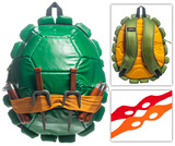 Teenage Mutant Ninja Turtle TMNT Shell Backpack with Toy Weapons and Masks Specialty Bags