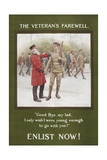 The Veteran's Farewell'. a Recruitment Poster Giclee Print