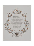 Floral Decoration and a Verse. Illustration From London Town' Giclee Print by Thomas Crane
