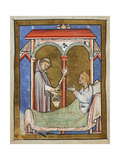 The Wife Of an Earl Is Cured, After a Monk Sprinkles Her With Holy Water Sent by St. Cuthbert Giclee Print by  Bede