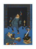 St. Nicholas Delivering Christmas Presents Giclee Print by William Denslow
