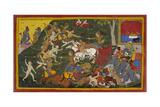 Ramayana, Yuddha Kanda Giclee Print by Sahib Din