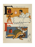 Alphabet Page: E and F. a Young Boy, Early To Bed. a Thieving Fox Giclee Print by William Denslow