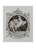 A Cockerel Crowing Giclee Print by Walter Crane
