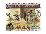 """Elephant and Castle Theatre, Southwark. """"The New Man"""", 1888. 'The Mohawk Minstrels - the New Man' Giclee Print by Henry Evanion"""
