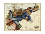 Shows the German Empire As a Young Man Lounging Across Europe. Giclee Print by Lilian Lancaster