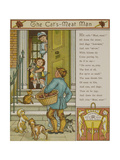 The Cat's Meat Man. a Seller Of Cat Food. Illustration From London Town' Giclee Print by Thomas Crane